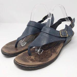 Born | Blue Leather Sandals                S2-66-2